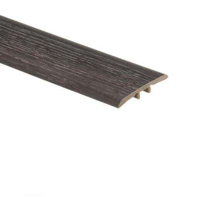 Aspen Oak Black/Noble Oak 5/16 in. Thick x 1-3/4 in. Wide x 72 in. Length Vinyl T-Molding