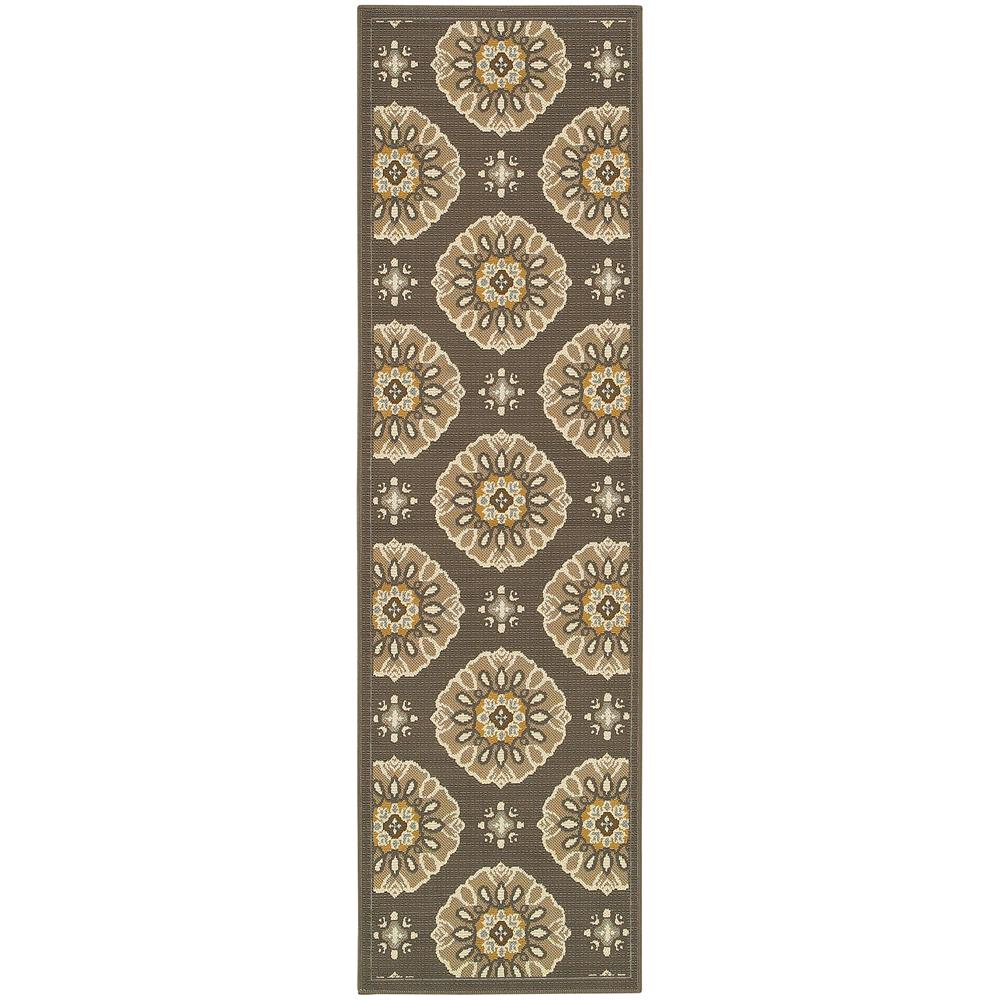 Skye Grey 2 ft. x 8 ft. Indoor/Outdoor Runner Rug