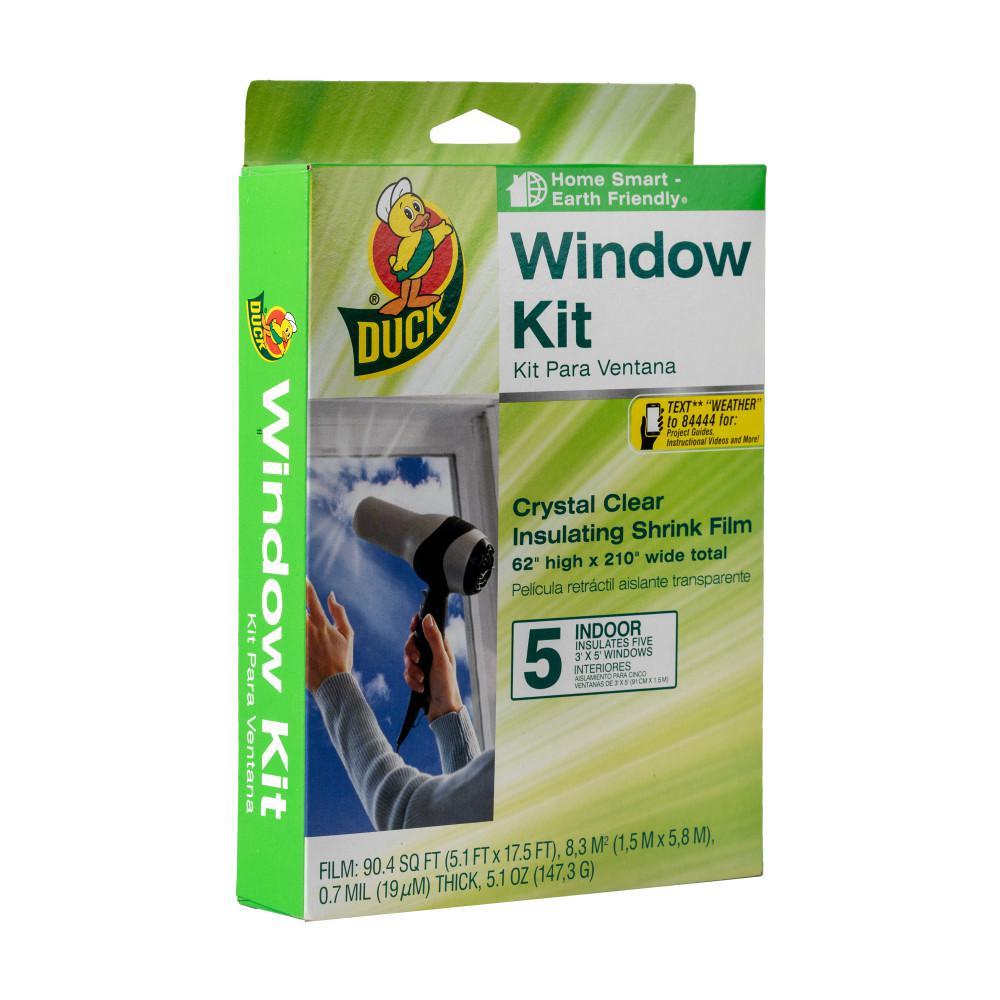 Duck 62 in. x 210 in. Crystal Clear Window Shrink Film Kit (5-Pack)