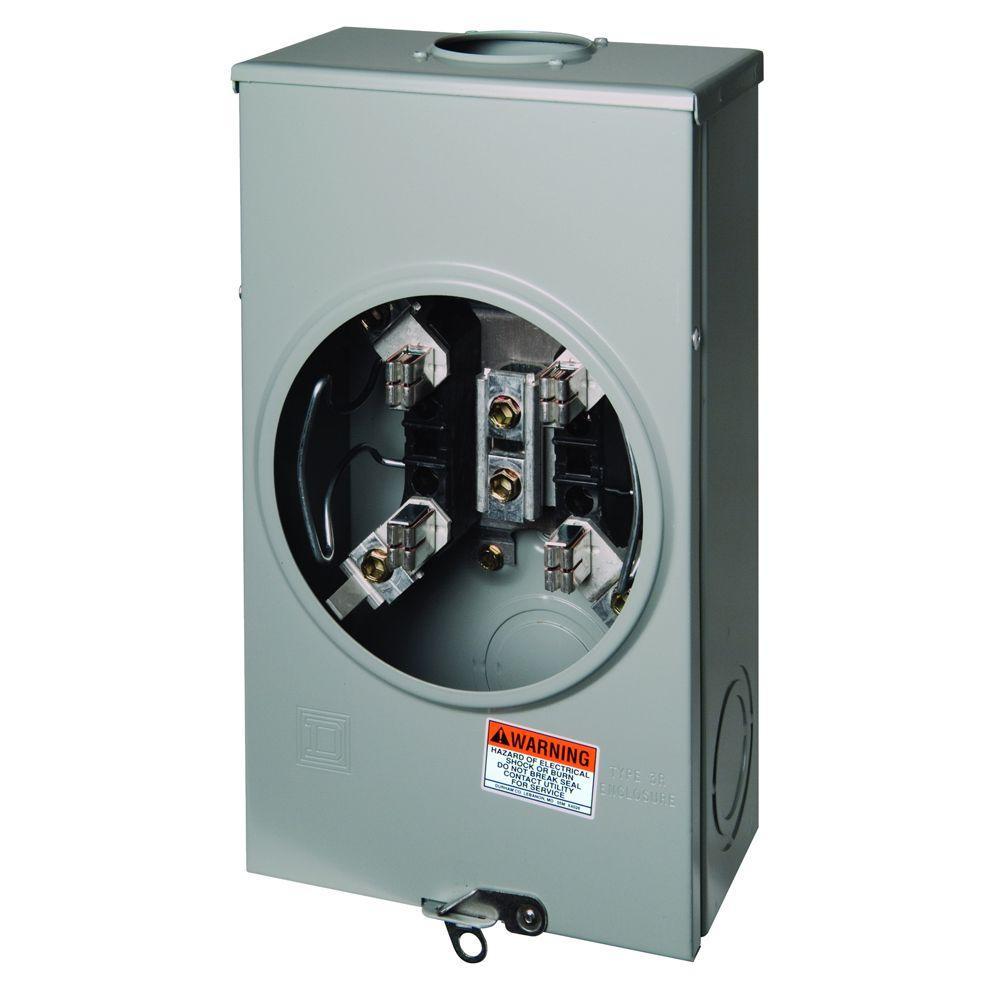 200 amp ringless-horn bypass overhead meter socket