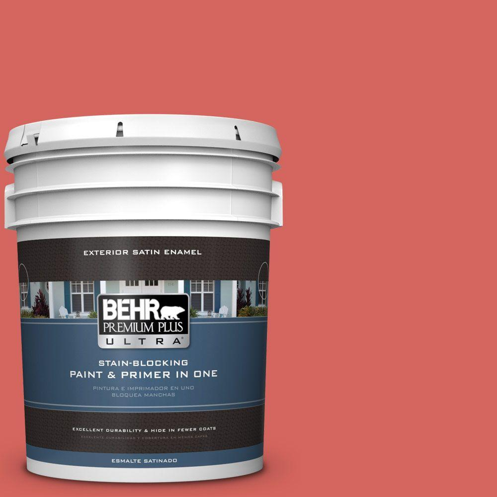 5 gal. #HDC-MD-05 Desert Coral Satin Enamel Exterior Paint