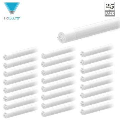 12-Watt 4 ft. T8 LED Hybrid Linear LED Light Bulb 3500K Soft White (25-Pack)