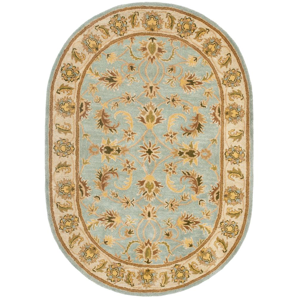 Heritage Light Blue/Beige 4 ft. 6 in. x 6 ft. 6