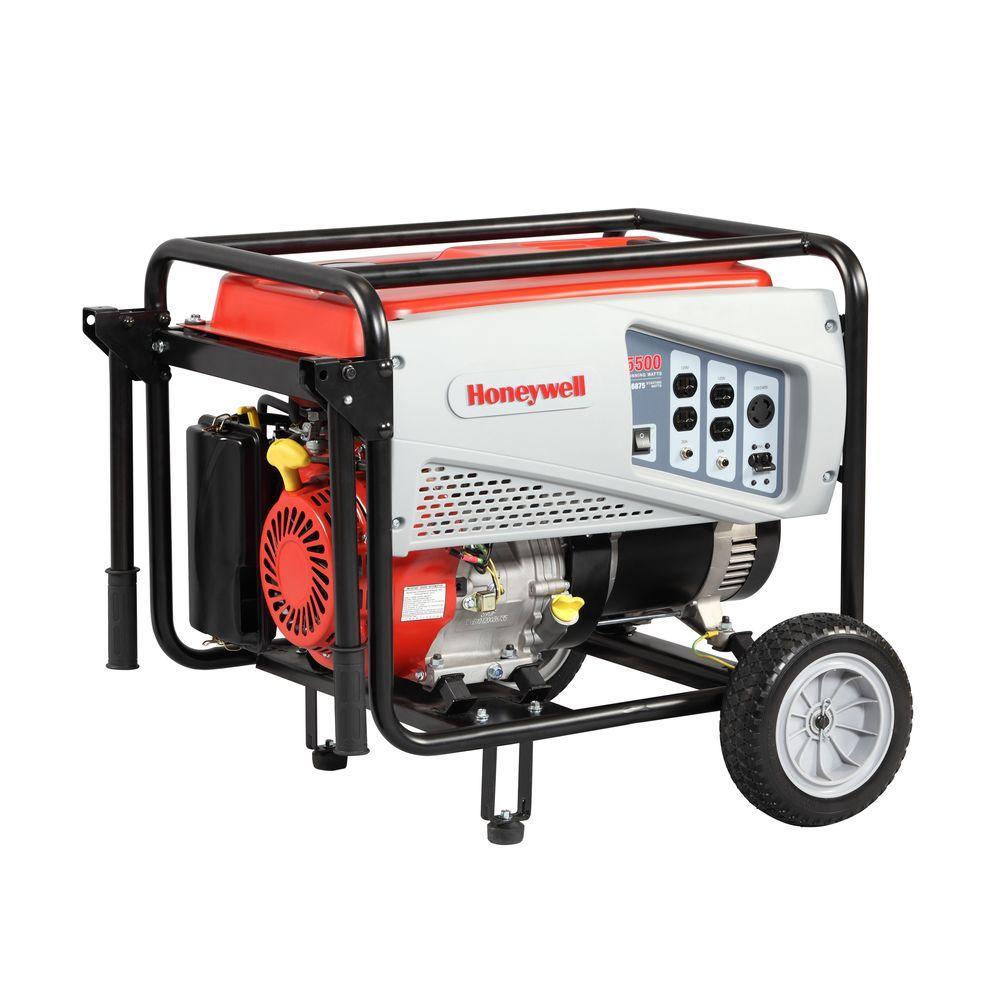 Honeywell 5,500-Watt Gasoline Powered Electric Start Portable Generator