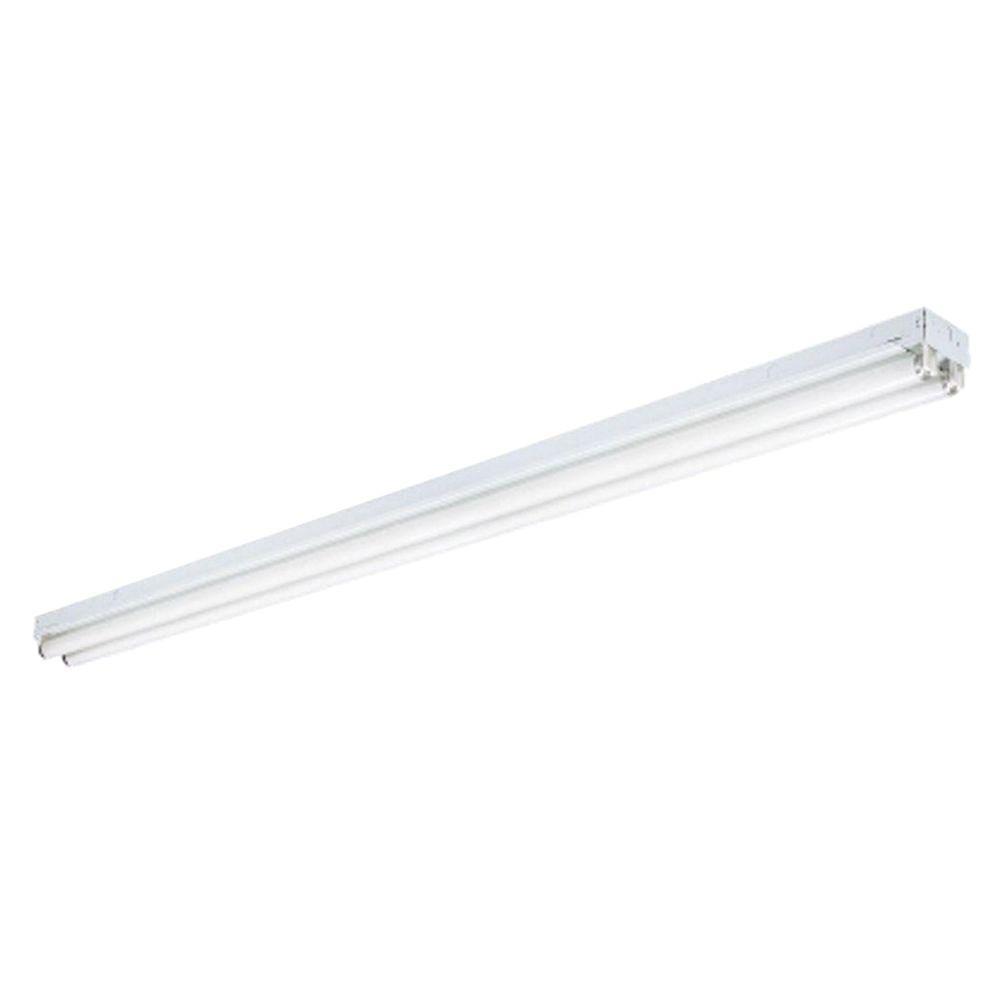 Lithonia Lighting 2 Light White Ceiling Commercial Strip Fluorescent Light C 2 96 120 Geb The Home Depot