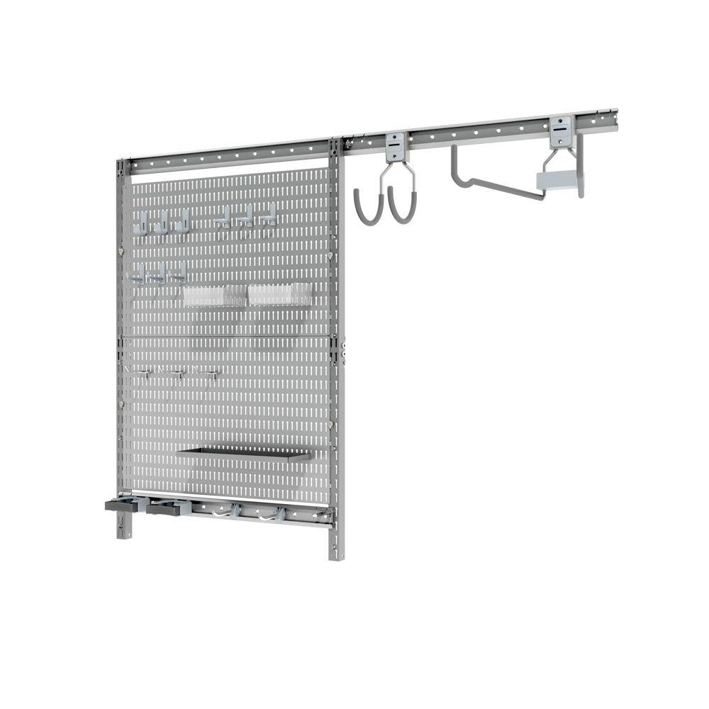 16 in. H x 25 in. W Pegboard Set with Utility