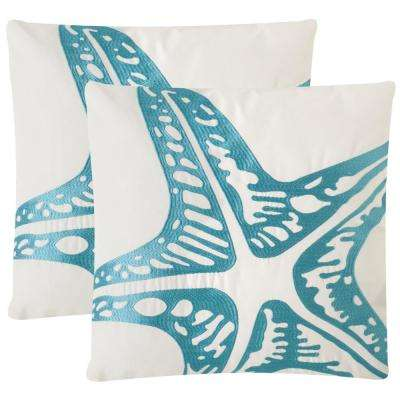 Whitney Soleil Square Outdoor Throw Pillow (Pack of 2)