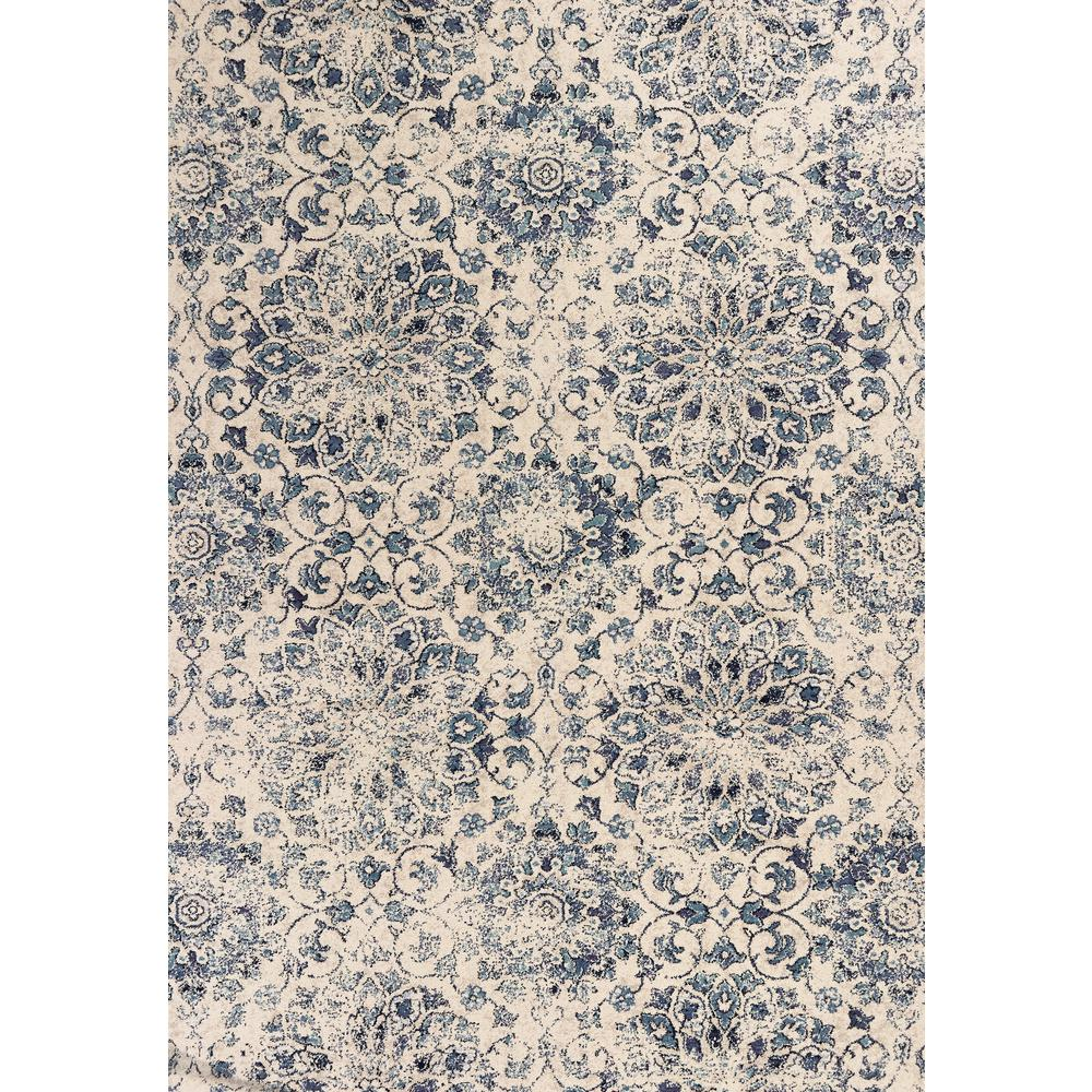 Kas Rugs Ivory/Blue Mosaic 3 ft. x 5 ft. Area Rug was $60.2 now $33.11 (45.0% off)