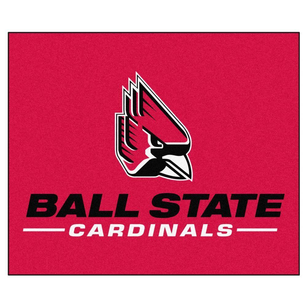 NCAA Ball State University Red 5 ft. x 6 ft. Area
