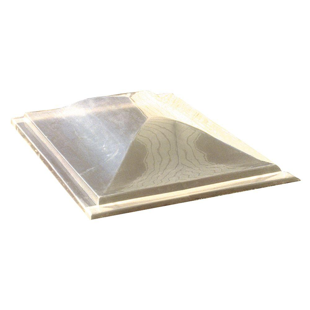 Three Tier ScapeWel 75 in. Polycarbonate Dome Cover