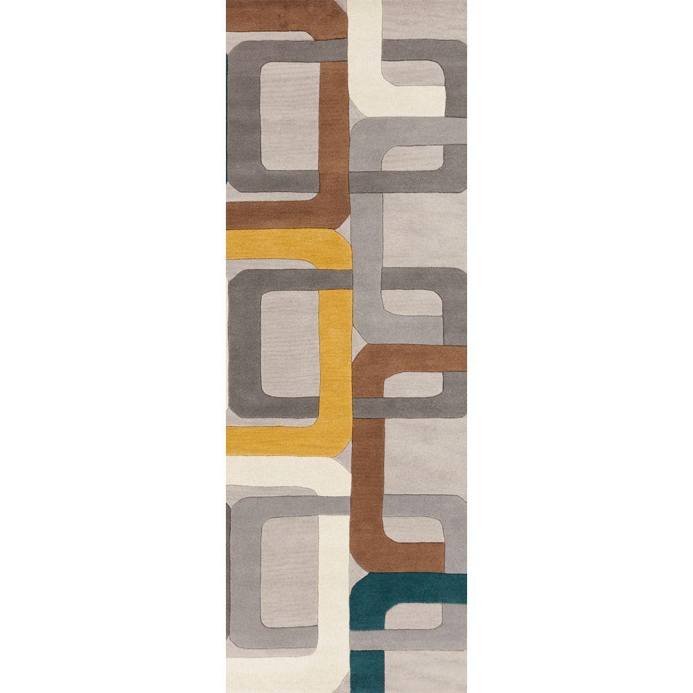 Michael Teal Blue 2 ft. 6 in. x 8 ft. Rug