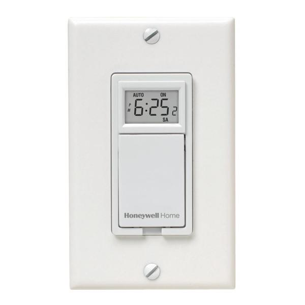 Honeywell Home 120 Volt 7 Day Programmable Indoor Motor And Light Switch Timer Rpls730b1000 U The Home Depot