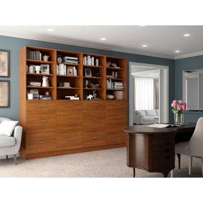 Calabria General Storage 15 in. D x 96 in. W x 84 in. H Cognac Wood Closet System