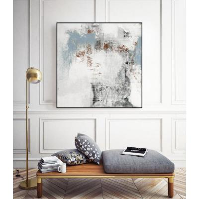 "30 in. x 30 in. ""White Wash I"" by Jennifer Goldberger Framed Wall Art"