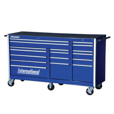 Pro Series 75 in. 17-Drawer Roller Cabinet Tool Chest in Blue