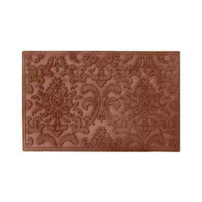 A1HC Brocade Classic Brown 24 in. x 36 in. Eco-Poly Scraper Mats with Anti-Slip Fabric Finish and Tire Crumb Backing
