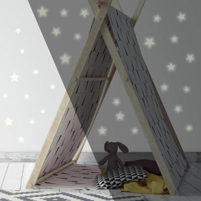 5 in. x 11.5 in. Glow in the Dark Stars 60-Piece Peel and Stick Wall Decals