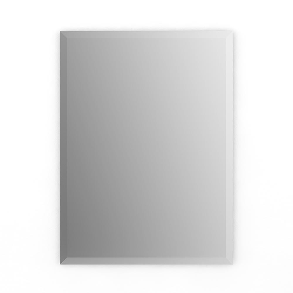 Delta 16 in. x 24 in. (S1) Rectangular Frameless TRUClarity  Deluxe Glass Mirror with Easy-Cleat Flush Mount Hardware