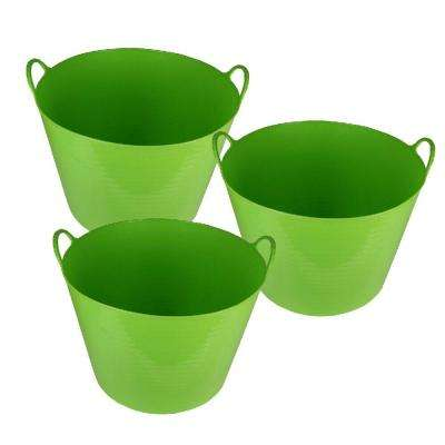 26 Qt. Storage Tote in Green (3-Pack)