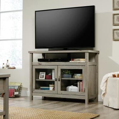 Cottage Road 42 in. Mystic Oak Particle Board TV Stand Fits TVs Up to 42 in. with Storage Doors