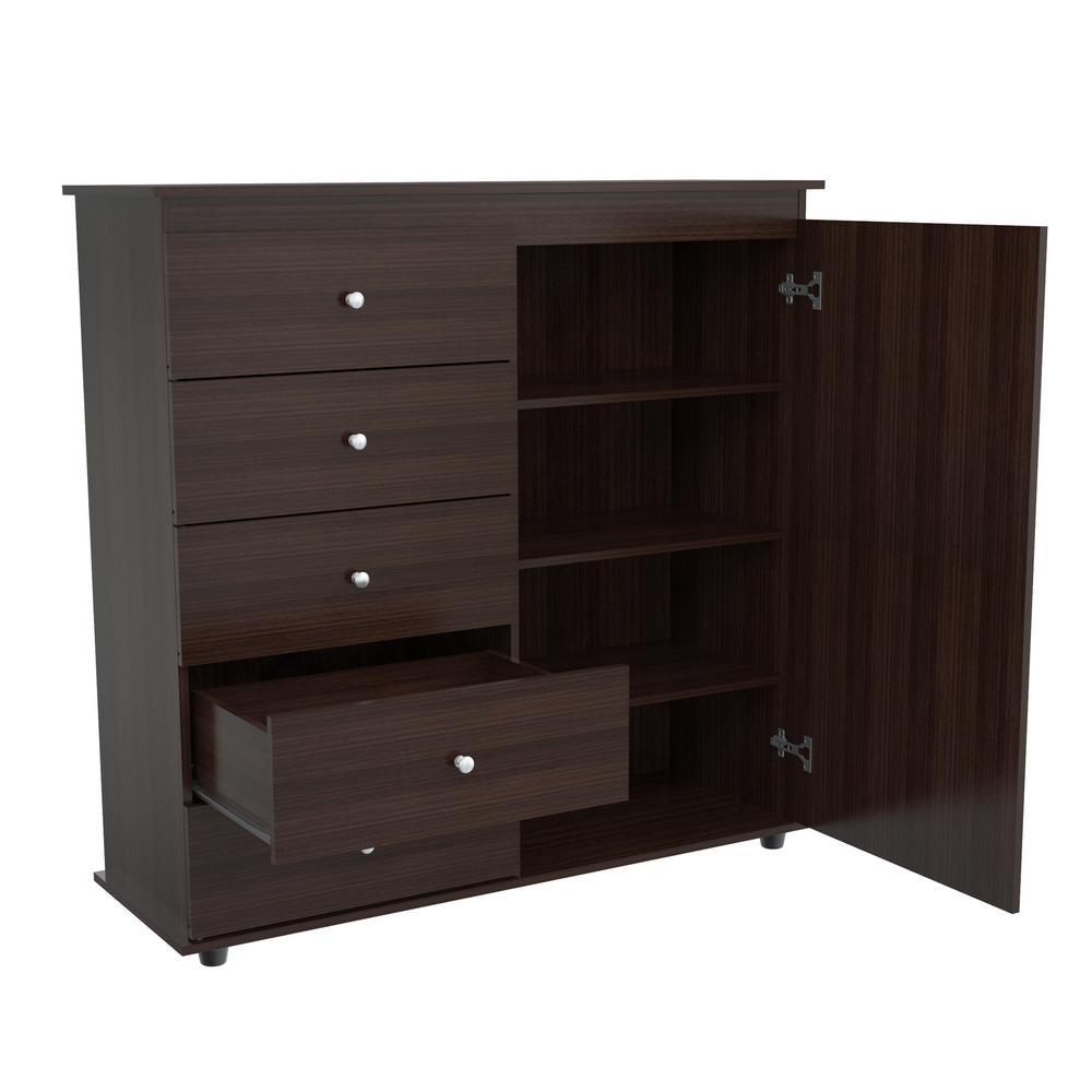 5-Drawer Espressso-Wengue Dresser