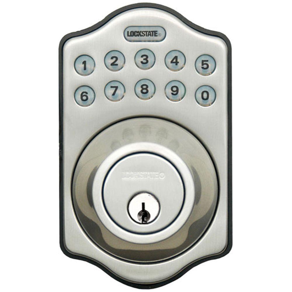 LockState RemoteLock WiFi Electronic Single Cylinder Satin Nickel Deadbolt Door Lock