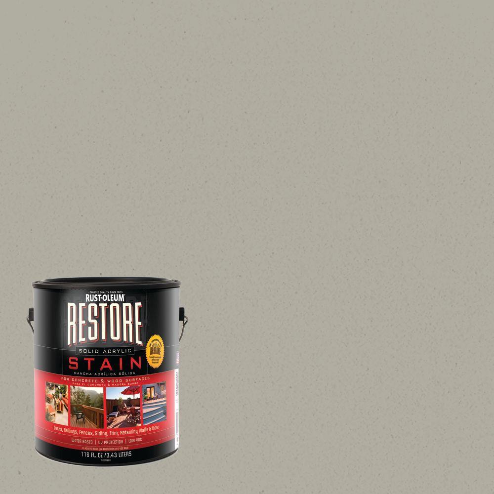 Rust-Oleum Restore 1 gal. Juniper Solid Acrylic Exterior Concrete and Wood Stain