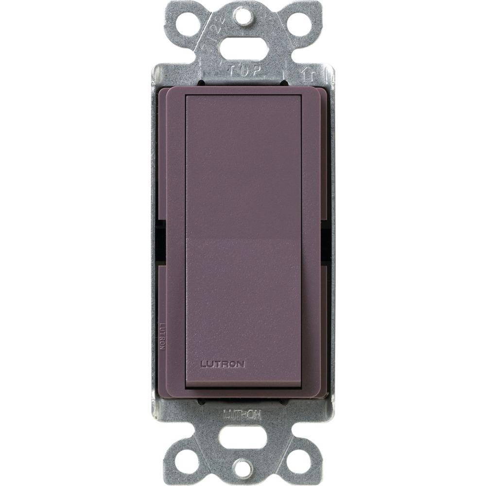 Lutron Claro On/Off Switch, 15 Amp, Single Pole, Plum Pictures Gallery