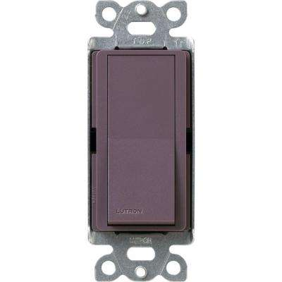 Claro On/Off Switch, 15-Amp, Single-Pole, Plum