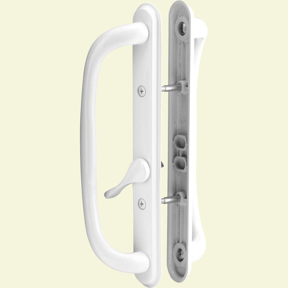 Prime-Line White Diecast Sliding Door Handle Set with 10 in. Pull