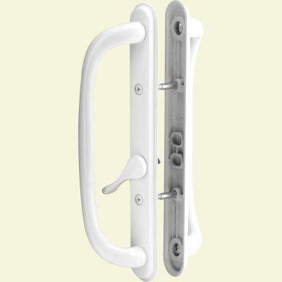 Sliding Door Handle Set, 10 in. Pull, White