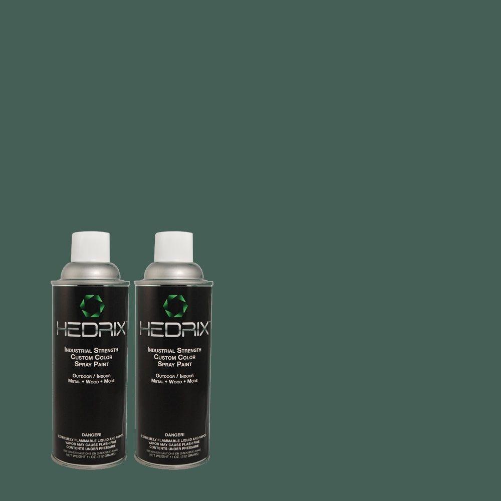 Hedrix 11 oz. Match of MQ6-1 Ocean Abyss Low Lustre Custom Spray Paint (2-Pack)