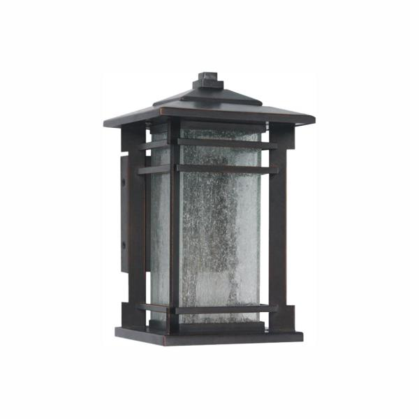 Oil Rubbed Bronze Outdoor Integrated LED Wall Lantern Sconce