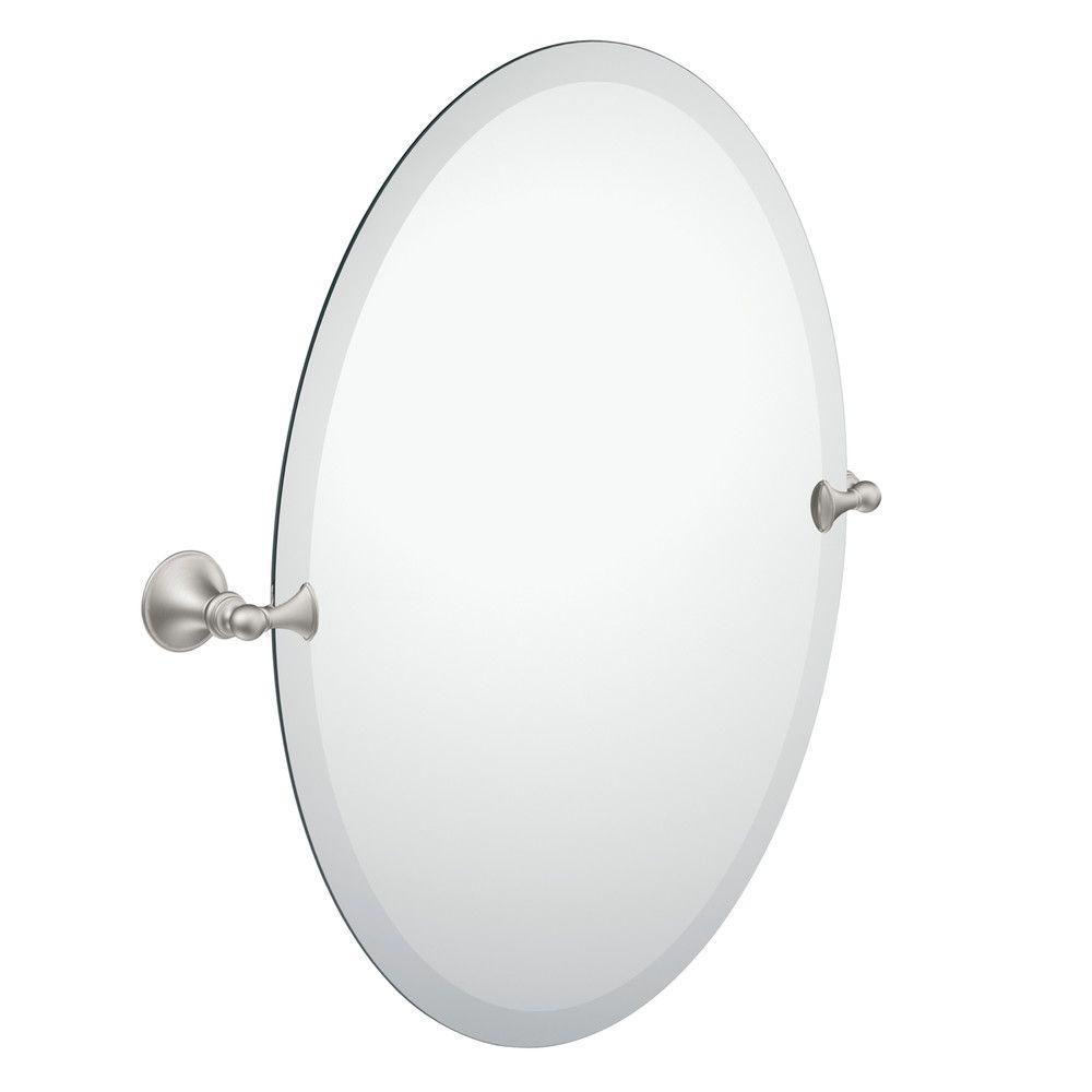 frameless pivoting wall mirror in spot resist - Home Depot Bathroom Mirrors