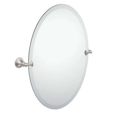 Charmant Frameless Pivoting Wall Mirror In Spot Resist Brushed