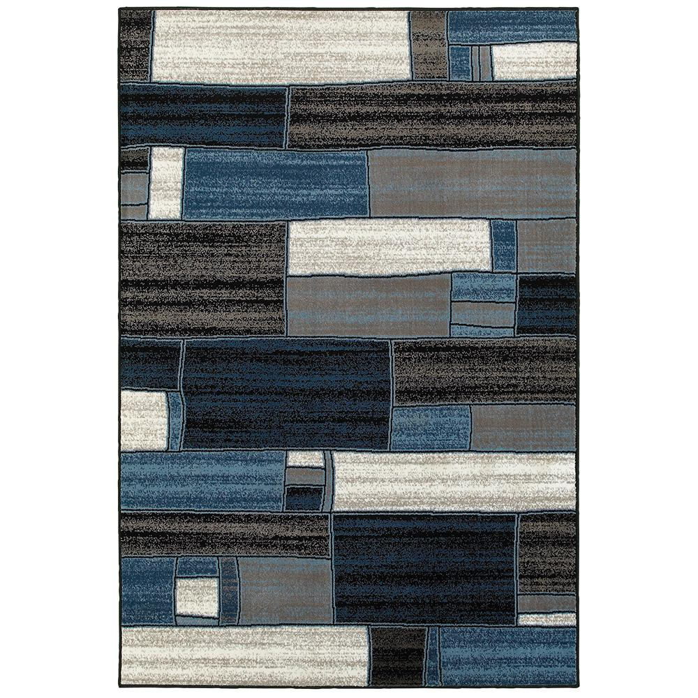 Adana Charcoal and Blue 9 ft. 2 in. x 12 ft.