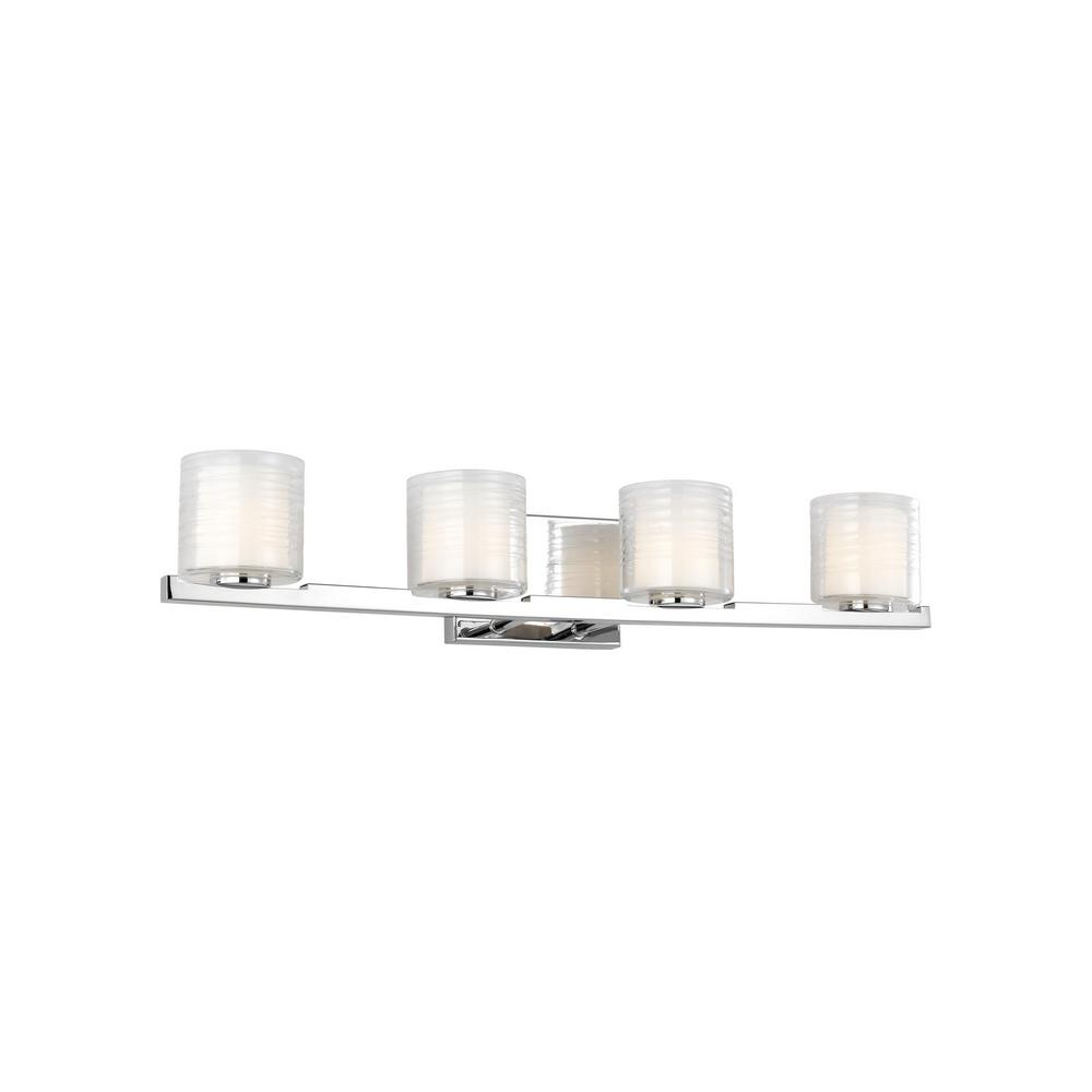 Volo 4-Light Chrome Bath Light