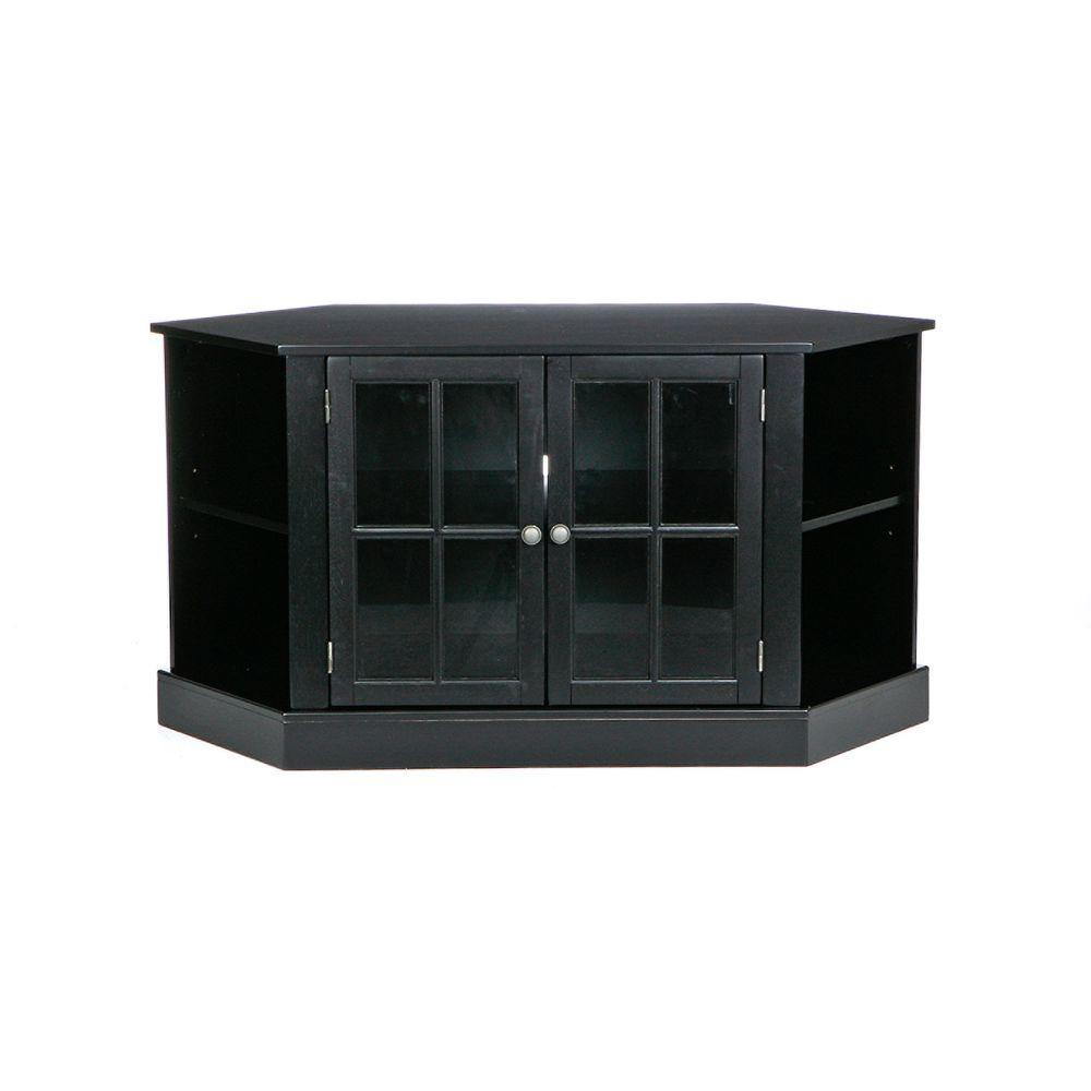 Home Decorators Collection Thomas Black Corner Media Stand