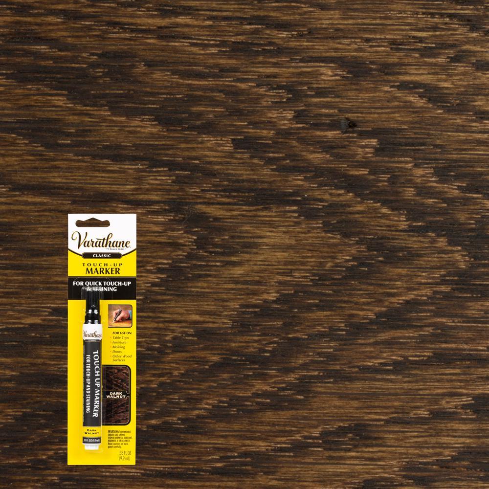 .33 oz. Dark Walnut Wood Stain Furniture & Floor Touch-Up Marker (8-Pack)