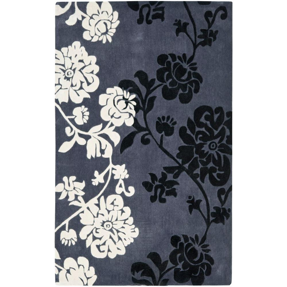 Safavieh Modern Art Dark Grey/Multi 5 ft. x 8 ft. Area Rug