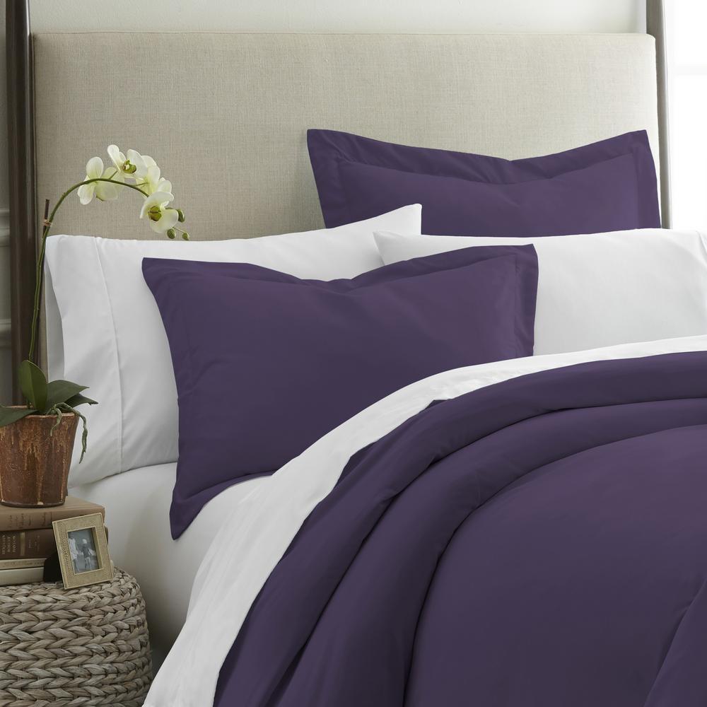 Performance 2-Piece Purple Standard Pillow Sham Set