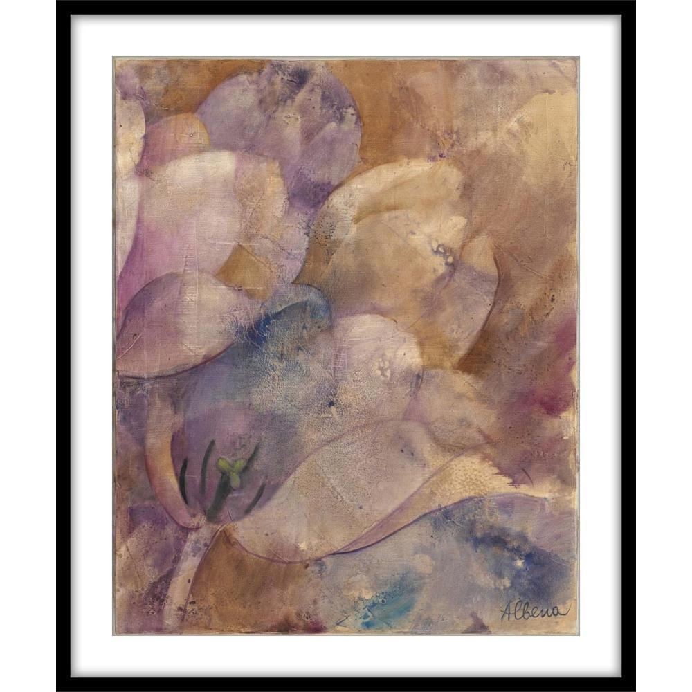 """9.75 in. x11.75 in. """"Moonlit Tulips II""""Framed Wall Art"""