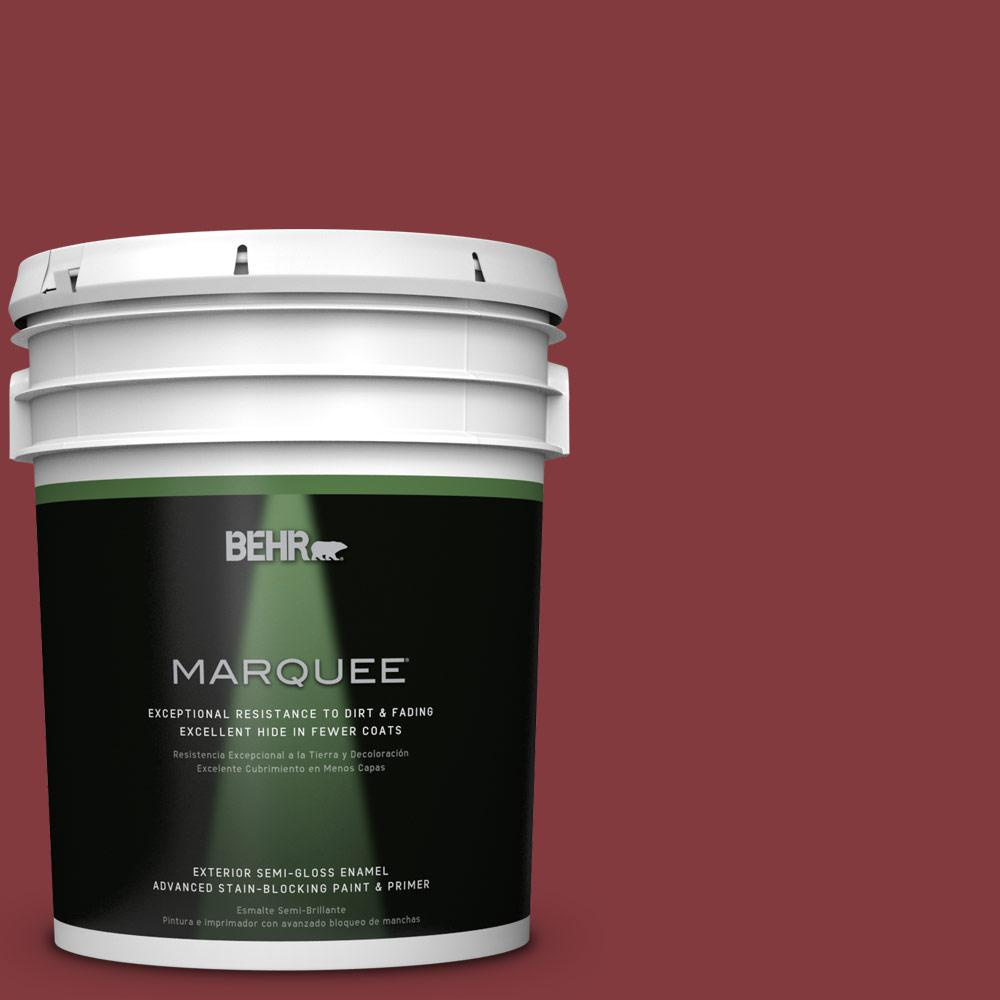 5-gal. #S-H-130 Red Red Wine Semi-Gloss Enamel Exterior Paint