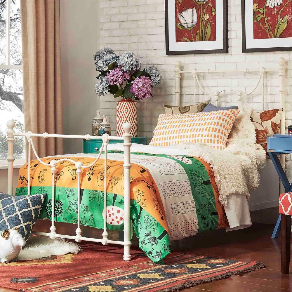 Dorado Antique White Twin Bed Frame