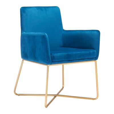 Honoria Blue Velvet Arm Chair