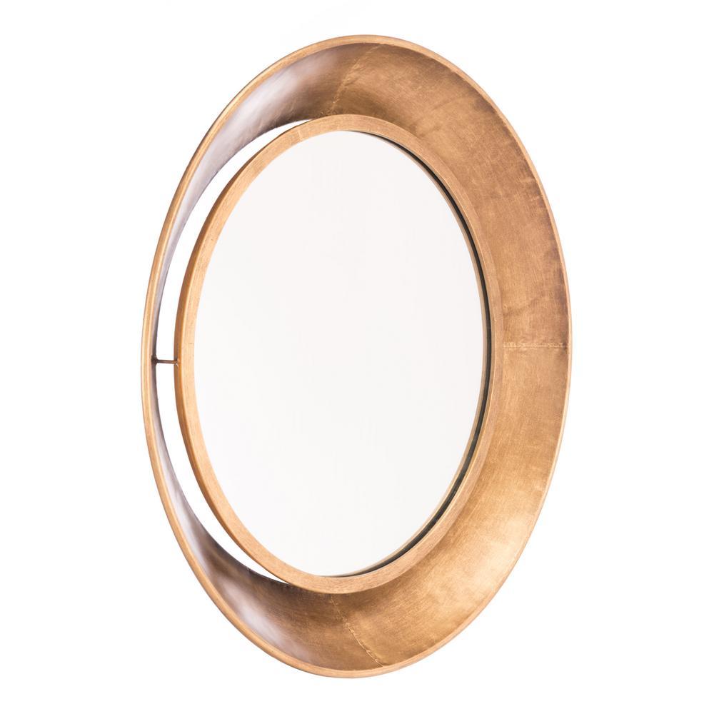 Ovali Gold Large Wall Mirror