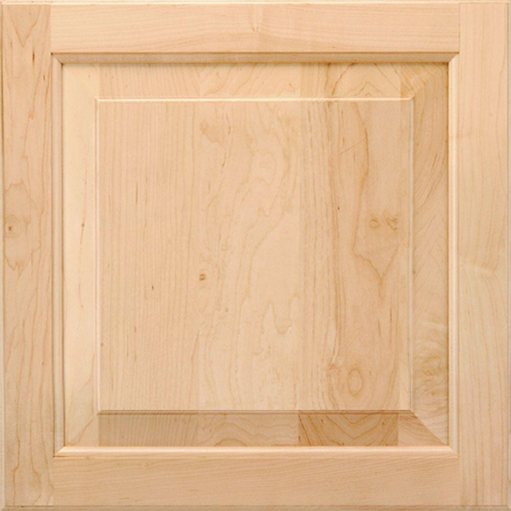 American Woodmark 14-9/16x14-1/2 in. Cabinet Door Sample in Charlottesville Maple Natural