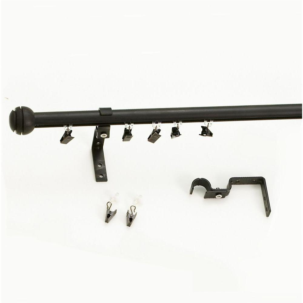 Versailles Home Fashions 72 in. W x 75 in. H x 3/4 in. D Express Aluminum Track Rod-DISCONTINUED