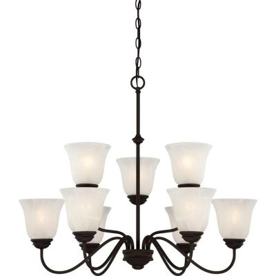 Hammond 9-Light Antique Bronze Interior Chandelier