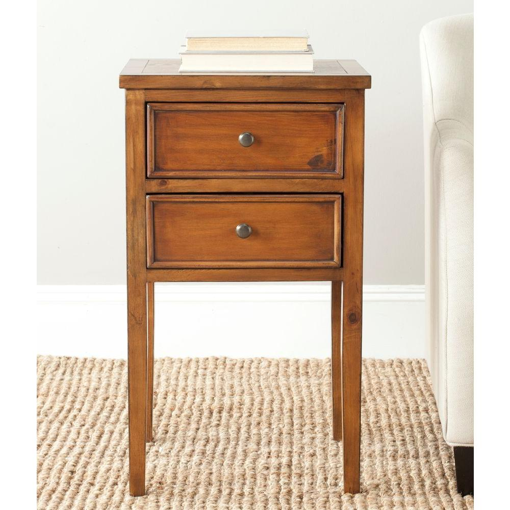 Safavieh Toby Filbert Brown Storage End Table AMH6625F